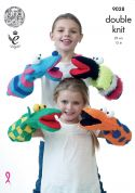 King Cole Novelty Hand Puppet Toys Pricewise Knitting Pattern 9028  DK