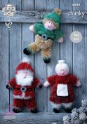 King Cole Christmas Toys Tinsel Knitting Pattern 9029  Chunky