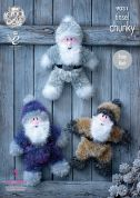 King Cole Christmas Santa Toys Tinsel Knitting Pattern 9031  Chunky