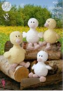 King Cole Duck Toys Cuddles Knitting Pattern 9042  DK