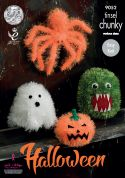 King Cole Halloween Monsters Toys Tinsel Knitting Pattern 9052  Chunky