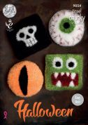King Cole Home Halloween Cushions Tinsel Knitting Pattern 9054  Chunky