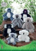 King Cole Koala Toys Luxe Fur Knitting Pattern 9058  Aran