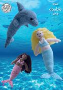 King Cole Mermaid & Dolphin Toys Knitting Pattern 9063  DK