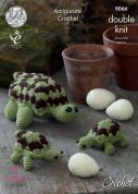 King Cole Tortoise Family Toys Crochet Pattern 9066  DK