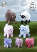 King Cole Sheep Toys Tinsel Knitting Pattern 9080  Chunky, DK