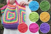Rainbow Project Bag Colour Pack and Pattern