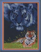 Janlynn Counted Cross Stitch Kit Tiger