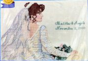 Janlynn Counted Cross Stitch Kit The Bride