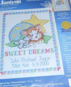 Janlynn Stamped Cross Stitch Kit Sweet Dreams