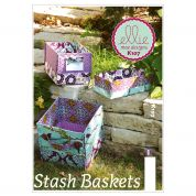 Kwik Sew Home Accessories Easy Sewing Pattern 0107 Stash Storage Baskets