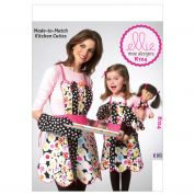 Kwik Sew Ladies, Childrens & Doll Clothes Easy Sewing Pattern 0124 Aprons & Mitts