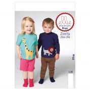 Kwik Sew Childrens Easy Sewing Pattern 0133 Top, Shorts & Pants with Applique Detail