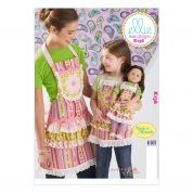 Kwik Sew Ladies, Childrens & Doll Clothes Sew Sweet Chic Sewing Pattern 0136 Aprons