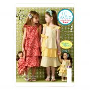 Kwik Sew Childrens Sewing Pattern 0144 Girls & Dolls Made to Match Dresses