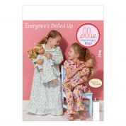 Kwik Sew Childrens Easy Sewing Pattern 0157 Made to Match Girls & Dolls Sleepwear