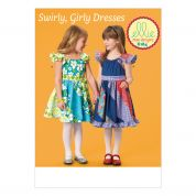 Kwik Sew Childrens Sewing Pattern 0184 Fancy Patchwork Dresses