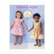 Kwik Sew Toddlers Sewing Pattern 0192 Ribbons & Ruffles Dresses