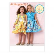 Kwik Sew Girls Sewing Pattern 0199 Wrapover Dresses
