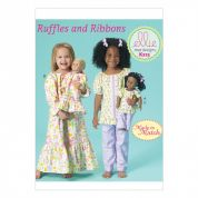 Kwik Sew Girls & Dolls Clothes Easy Sewing Pattern 213 Matching Pyjamas & Nightie