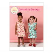 Kwik Sew Girls Easy Sewing Pattern 215 Notch Neck Dresses