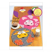 Kwik Sew Homeware Easy Sewing Pattern 217 Circular Farm Animal Placemats