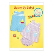 Kwik Sew Baby Easy Sewing Pattern 0220 Overalls, Dress & Panties