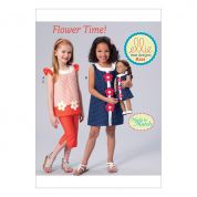 Kwik Sew Girls Easy Sewing Pattern 0221 Tops, Dress, Pants & Matching Doll Clothes