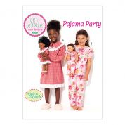 Kwik Sew Girls & Dolls Ellie Mae Easy Sewing Pattern 0227 Matching Pyjamas