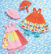 Kwik Sew Baby & Toddlers Sewing Pattern 168 Babies Dress, Panties & Hat