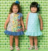 Kwik Sew Childrens Easy Sewing Pattern 169 Girls Fat Quarter Friendly Dresses