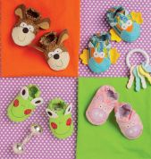 Kwik Sew Baby & Sew Sweet Chic Sewing Pattern 170 Animal Shape Babies Booties