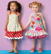 Kwik Sew Toddlers Sewing Pattern 175 Girls Ruffle Dresses