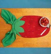 Kwik Sew Homeware Easy Sewing Pattern 176 Fruit Shape Reversible Placemats