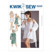 Kwik Sew Ladies Sewing Pattern 2325 Sleepwear, Chemise, Robe & Panties