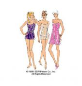 Kwik Sew Ladies Sewing Pattern 2589 Sleepwear, Chemise, Camisole Top & Shorts