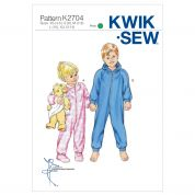 Kwik Sew Childrens Easy Sewing Pattern 2704 Sleepers, Jumpsuits, Onesies