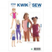 Kwik Sew Childrens Easy Sewing Pattern 2724 Dancewear Leotards, Leggings & Shorts