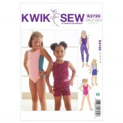 Kwik Sew Childrens Easy Sewing Pattern 2725 Dancewear Leotards, Leggings & Shorts