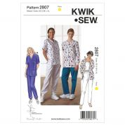 Kwik Sew Ladies Easy Sewing Pattern 2807 Scrubs Casual Loungewear Clothing