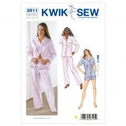 Kwik Sew Ladies Sewing Pattern 2811 Pyjamas Tops, Pant & Shorts