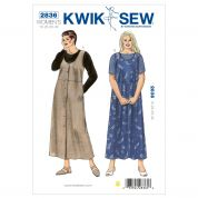 Kwik Sew Ladies Plus Size Easy Sewing Pattern 2836 T Shirt Tops & Dresses
