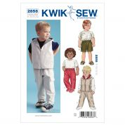 Kwik Sew Toddlers Sewing Pattern 2858 Pants, Shorts & Waistcoat Jacket