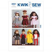 Kwik Sew Crafts Sewing Pattern 2921 Doll Clothes Fancy Wardrobe