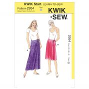 Kwik Sew Ladies Easy Sewing Pattern 2954 Wrap Skirts