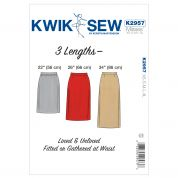 Kwik Sew Ladies Easy Sewing Pattern 2957 Straight Skirts in 3 Lengths