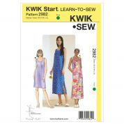 Kwik Sew Ladies Easy Sewing Pattern 2982 Learn to Sew Dresses