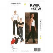 Kwik Sew Mens Sewing Pattern 3029 Dancewear Pants, Top & Leotards