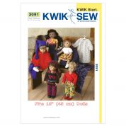 Kwik Sew Crafts Learn to Sew Easy Sewing Pattern 3091 Doll Clothes