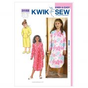 Kwik Sew Childrens Easy Sewing Pattern 3102 Pyjama Nightdress Gowns
